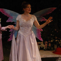 A young bride-to-be with fairy wings in Impossible Marriage.