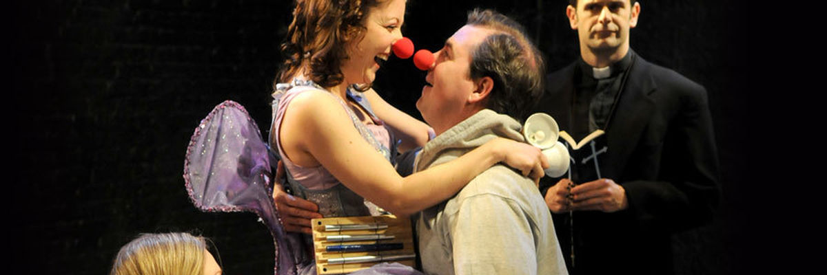 John Ferrick and Sarah Goeden in Red Noses.