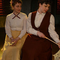 Actors Justine C. Turner and Dana Black in Miss Marx.